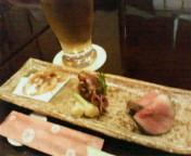 白海老&ビール(>_<)